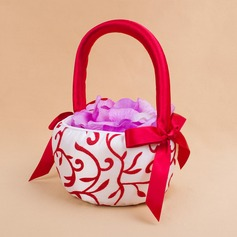 Lovely Flower Basket in Satin With Embroidery (102018099)