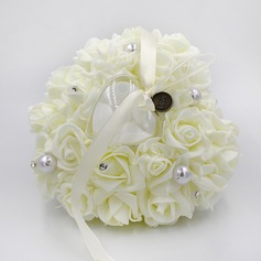 Elegant Rose Ring Pillow in PE With Rhinestones/Faux Pearl (103190801)