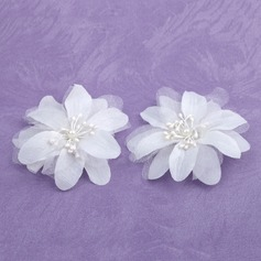 Beautiful Satin Flowers & Feathers (Set of 2) (042026364)