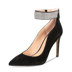 Donna Camoscio Tacco a spillo Stiletto Punta chiusa con Altrui scarpe (085153098)