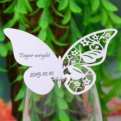 Mariposa diseñan Papel perlado Tarjetas del lugar (juego de 12) (131037412)