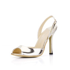 Patent Leather Stiletto Heel Sandalen Slingbacks schoenen (087022638)
