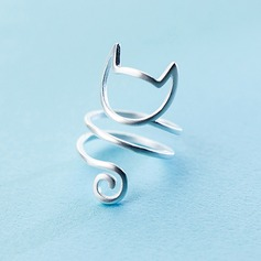 s925 Silver Unique Alloy Cat Ear Women's Fashion Rings Gaver (129140495)