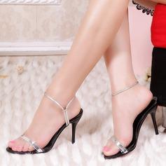 Vrouwen Patent Leather Stiletto Heel Sandalen Pumps Slingbacks schoenen (087122530)