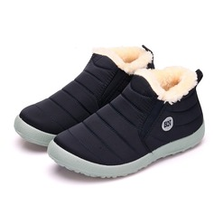 Frauen Stoff Flascher Absatz Stiefel Schuhe (088184639)