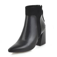 Femmes Similicuir Talon bottier Bottes Martin bottes avec Boucle chaussures (088190939)