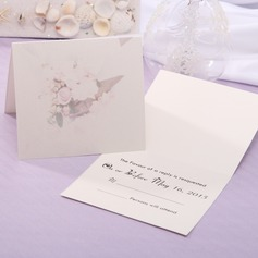 Personalized Floral Style Top Fold Response Cards (Set of 20) (114063925)