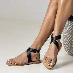 Donna Similpelle Senza tacco Sandalo Ballerine con Cava-out scarpe (087171530)