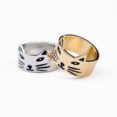 Dejligt Legering Unique Alloy Cat Ear Women's Fashion Rings Gaver (129140502)