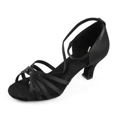 Women's Satin Heels Sandals Latin Ballroom Dance Shoes (053012980)
