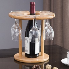 Wine Rack Wooden Simple Elegant Table Centerpieces (128198725)