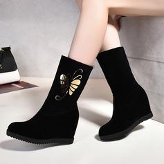 Frauen Wildleder Keil Absatz Stiefel mit Andere Schuhe (088109385)