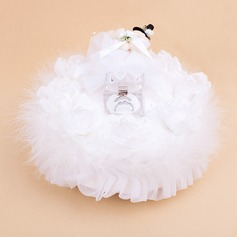 Music Box Ring Box With Teddy Bear/White Feather (103018237)