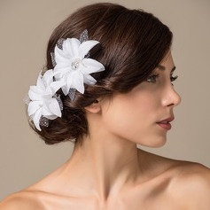 Gorgeous Satin Flowers & Feathers (042026373)