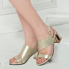 Vrouwen Kunstleer Chunky Heel Sandalen Peep Toe Slingbacks met Anderen schoenen (087124633)