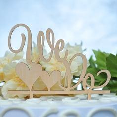 Mr & Mrs Legno Decorazioni per torte (119157028)