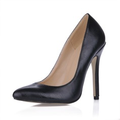 Leatherette Stiletto Heel Pumps Closed Toe shoes (085017506)