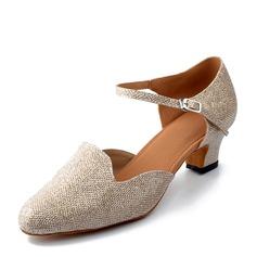Kvinnor Glittrande Glitter Klackar Latin Dansskor (053166331)