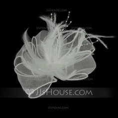Fancy Feather/Tulle Flowers & Feathers (042050410)