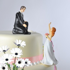 Classic Couple/Funny & Reluctant Cake Topper (122036148)