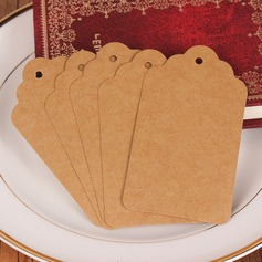 Semplice Rettangolare Kraft Paper tag (Set di 100) (051166367)