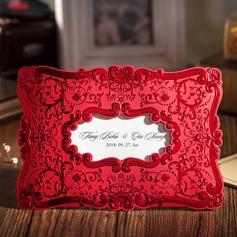 Personalizzato Stile Floreale Wrap & Pocket Invitation Cards (Set di 50) (114055130)