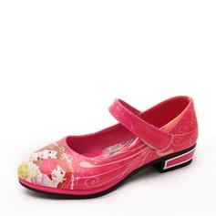 Ragazze Punta rotonda Mary Jane finta pelle tacco basso Ballerine Scarpe Flower Girl con Velcro (207153176)