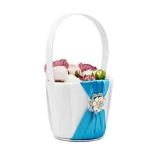Elegante Cesto di fiori in Raso con Strass/Di faux perla (102052733)