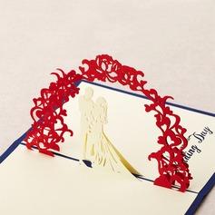 Tredimensionelle Søde Bryllup Lykønskningskort (114042508)