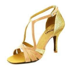 Kvinnor Glittrande Glitter Klackar Sandaler Latin med Spänne Dansskor (053046898)