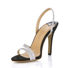 Femmes Similicuir Talon stiletto Sandales Escarpins chaussures (087017923)