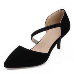 Donna Camoscio Tacco a spillo Sandalo Stiletto Punta chiusa con Altrui scarpe (085168425)
