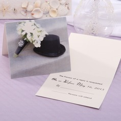 Personalized Classic Style Top Fold Response Cards (Set of 20) (114063927)