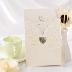 Blommig Stil Wrap & Pocket Invitation Cards med Färgband (Sats om 50) (114032374)