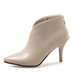 Frauen Kunstleder Stöckel Absatz Absatzschuhe Stiefel Stiefelette mit Andere Schuhe (088172956)