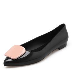 Donna PVC Ballerine Punta chiusa scarpe (086165232)