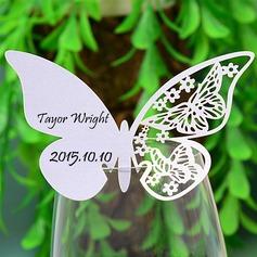 Mariposa diseñan Papel perlado Tarjetas del lugar (juego de 12) (131037410)