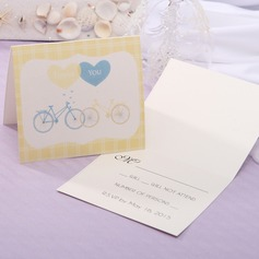 Personalized Modern Style Top Fold Response Cards (Set of 20) (114063936)