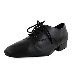 Kids' Real Leather Flats Latin Modern Ballroom Party Dance Shoes (053012953)