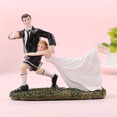Sportiva Coppia/Sposa e Sposo Resina Decorazioni per torte (Venduto in un unico pezzo) (119187413)