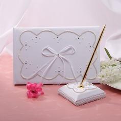 Elegante Di faux perla/Nastri Guestbook & Set di penne (101018193)