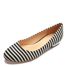 Donna Tessuto Senza tacco Ballerine scarpe (086175379)