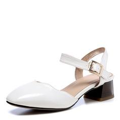Donna Similpelle Tacco spesso Sandalo Punta chiusa scarpe (085172775)