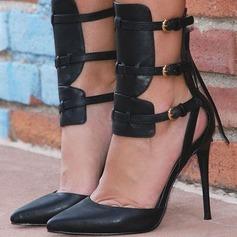 Donna Similpelle Tacco a spillo Stiletto Punta chiusa con Nappa scarpe (085171510)