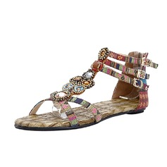 Kankaalla Matalakorkoiset Heel Sandaalit jossa Solki kengät (087063159)