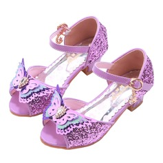 Girl's Round Toe Peep Toe Leatherette Flower Girl Shoes With Bowknot (207200903)