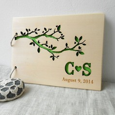 Personalized design Wood Guestbook (101198164)