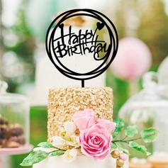 Stile classico/Buon compleanno Acrilico Decorazioni per torte (119154793)