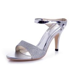 Femmes Pailletes scintillantes Talon cône Sandales Escarpins Escarpins chaussures (087039892)