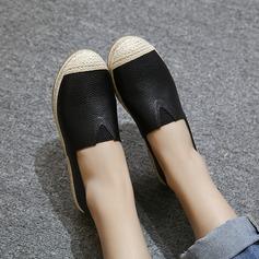 De mujer PU Tacón plano Planos Cerrados con Banda elástica zapatos (086145789)